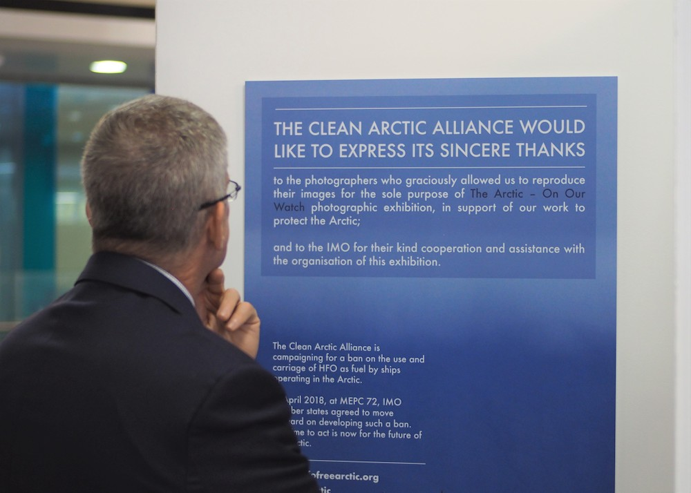 The Arctic On Our Watch at MEPC73, International Maritime Organization