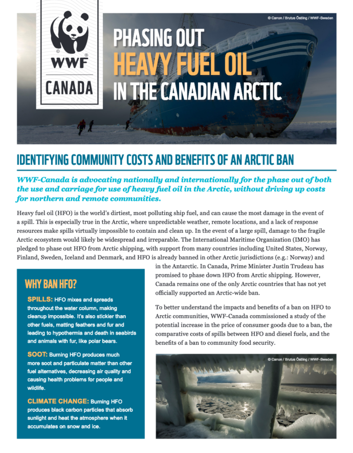 Phasing out Heavy Fuel Oil in the Canadian Arctic