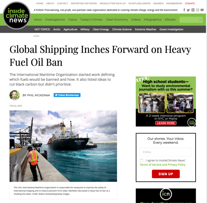 Global Shipping Inches Forward on Heavy Fuel Oil Ban in Arctic
