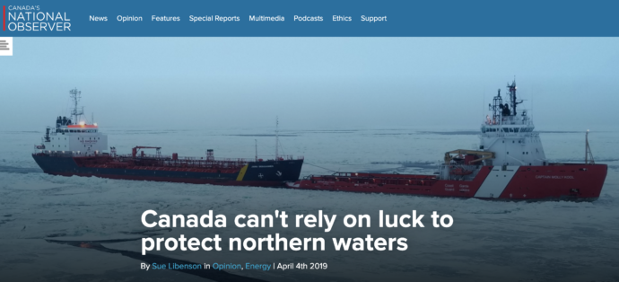 Canada can't rely on luck to protect northern waters