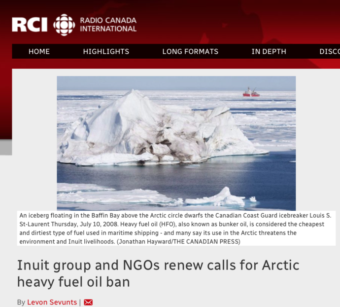 Inuit group and NGOs renew calls for Arctic heavy fuel oil ban