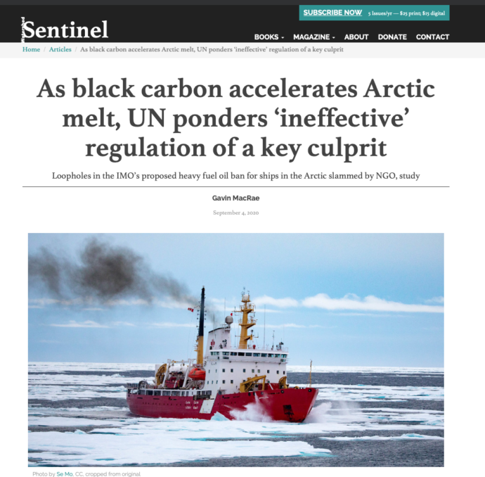 As black carbon accelerates Arctic melt, UN ponders 'ineffective' regulation of a key culprit