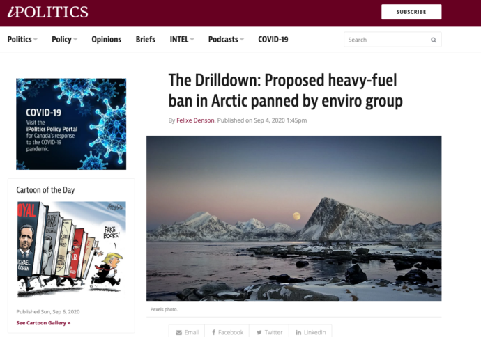 The Drilldown: Proposed heavy-fuel ban in Arctic panned by enviro group