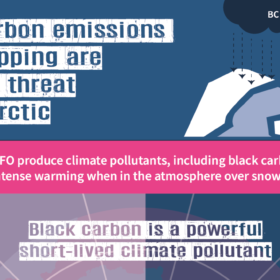 Black carbon emissions are a special threat to the Arctic from ships are