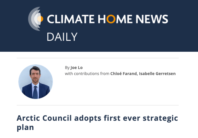 Arctic Council adopts first ever strategic plan