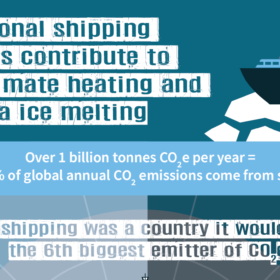 International Shipping emissions contribute to global climate heating and Arctic sea ice melting
